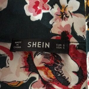 SHEIN Pants & Jumpsuits - SHEIN floral wrap jumpsuit with sash Small